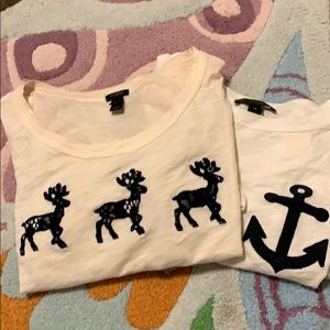 Two j crew T-shirt's